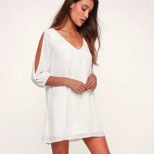 Lulus NWT Shifting Dears Ivory Long Sleeve Dress